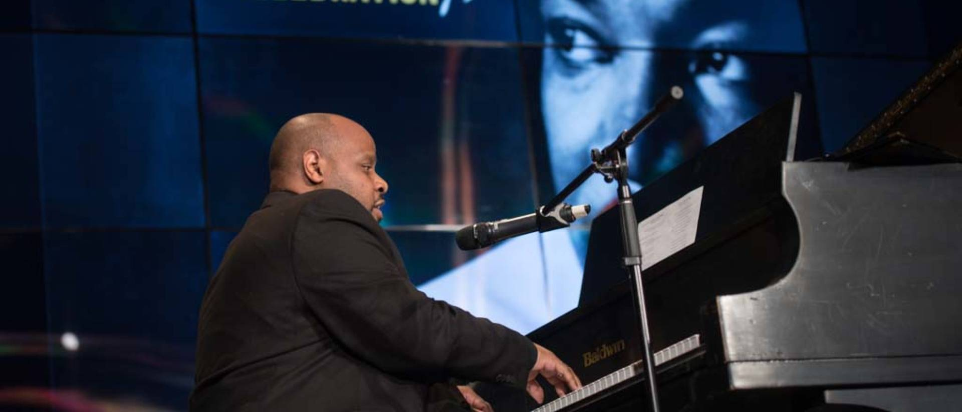 Dr. Frank Watkins performs at UW-Eau Claire Dr. Martin Luther King Jr. Celebration