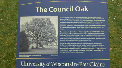 Council Oak Sign
