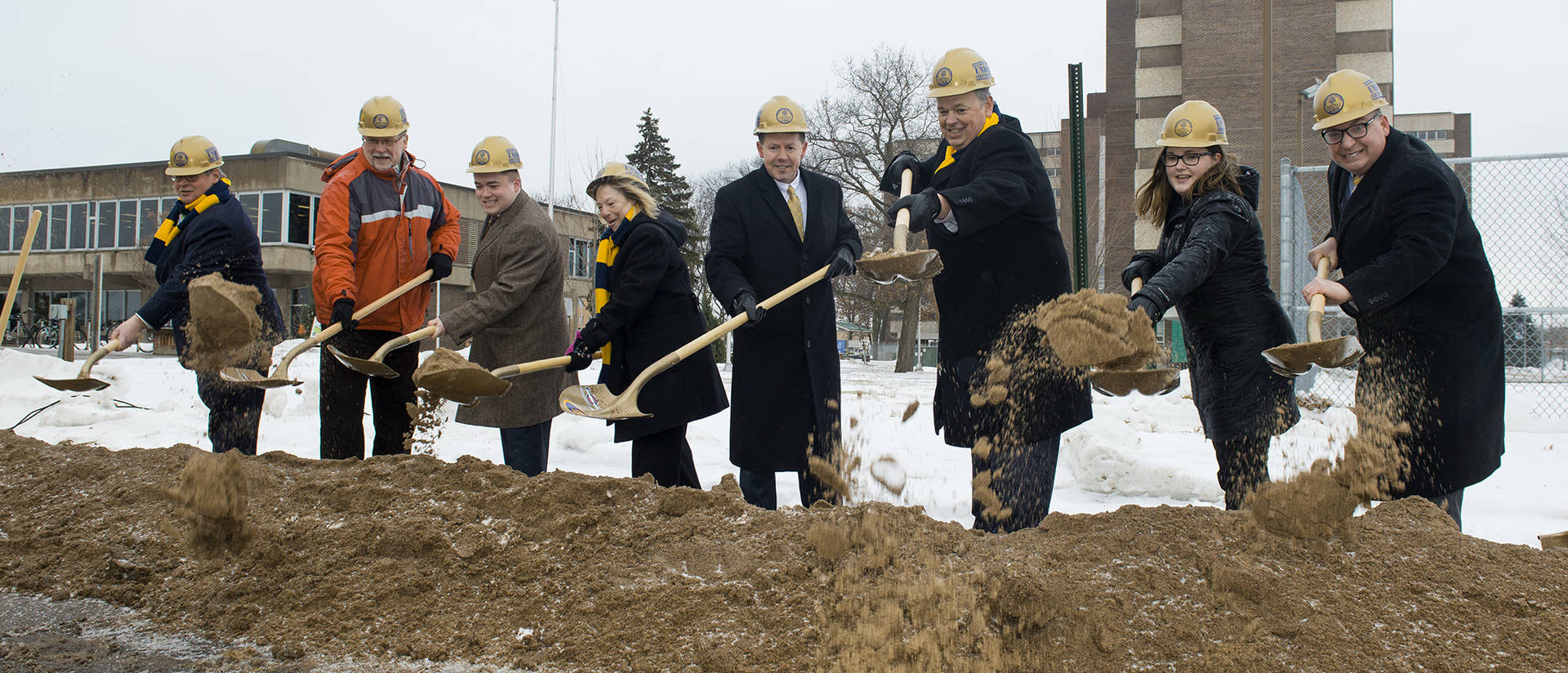 new residence hall groundbreaking February 2018