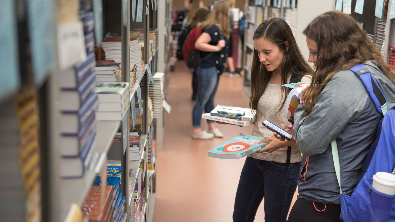 Book rental shoppers