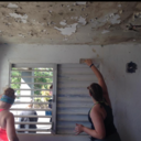 Carlie Rau helps restore a home in Puerto Rico