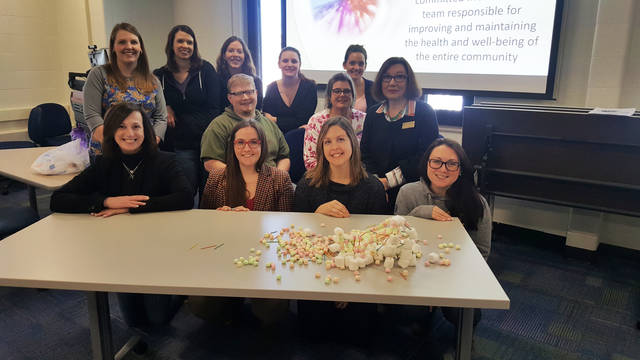 Modeling interprofessional collaboration through marshmallows