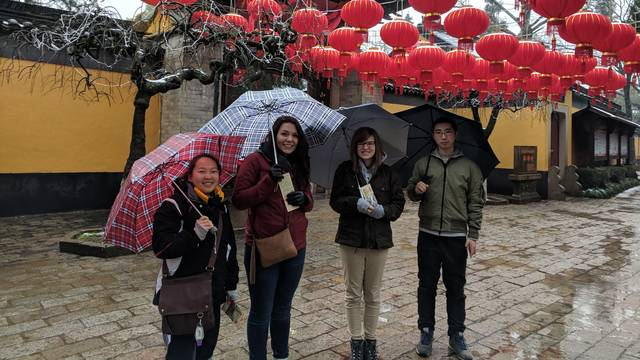 Students on immersion trip in China