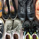 Image of shoes collected for the 2018 Soles4Souls shoe drive