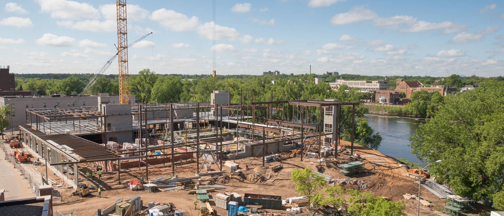 The Confluence Arts Center Building is starting to take shape as construction progresses