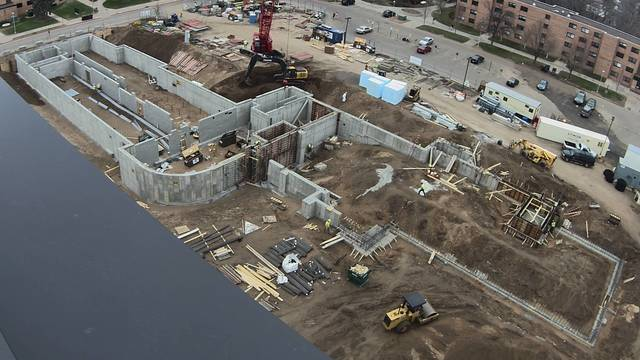 New residence hall webcam view as of April 30, 2018