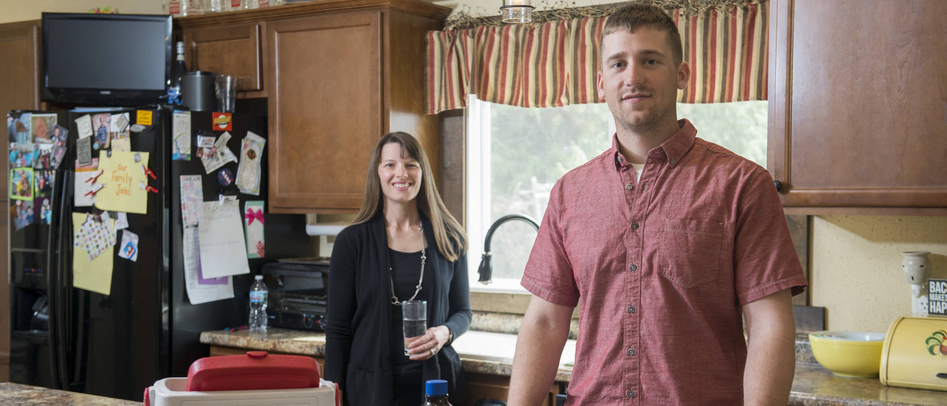 Homeowner Katie Wehling is eager to work with Dexter Zebro, an environmental public health major, on a study to determine how nitrates get into private wells.