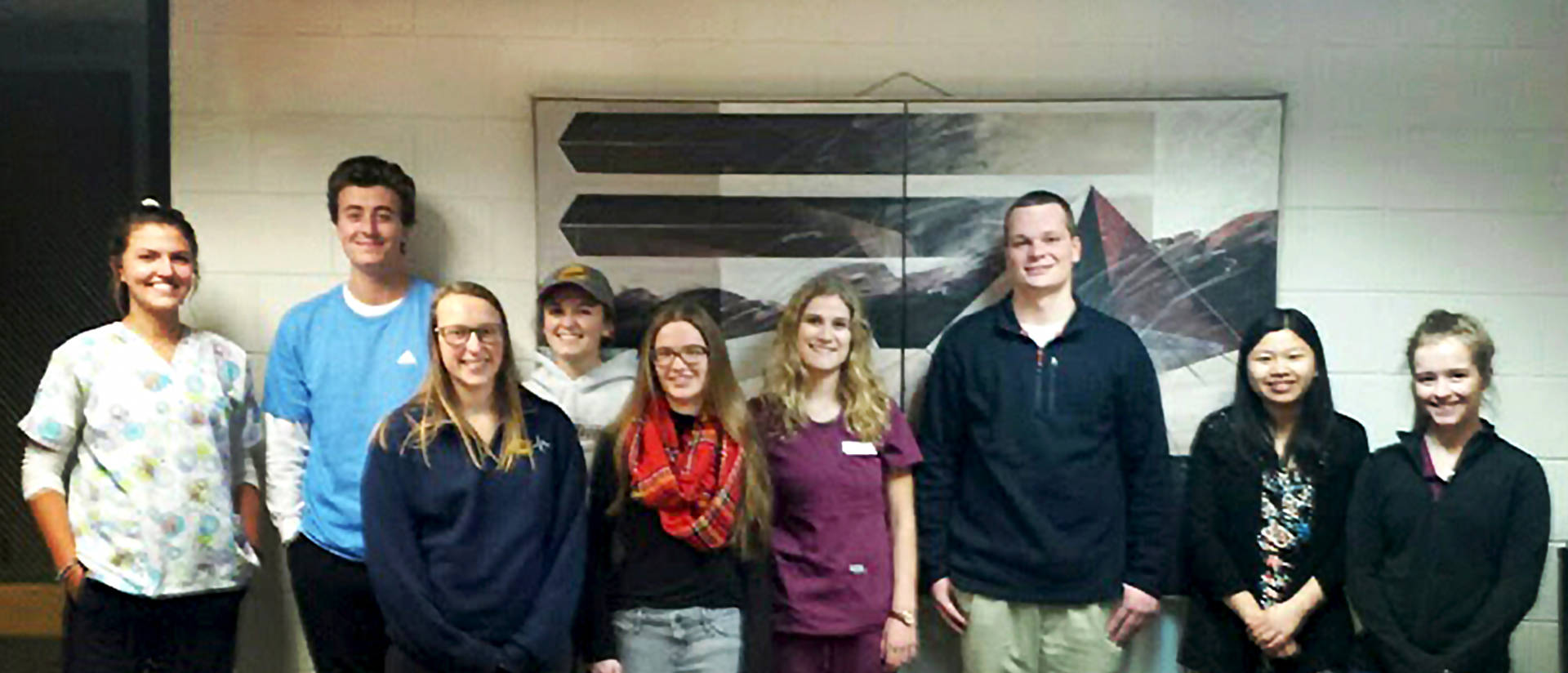 Student nursing assistants in Student Health Services Spring 2018